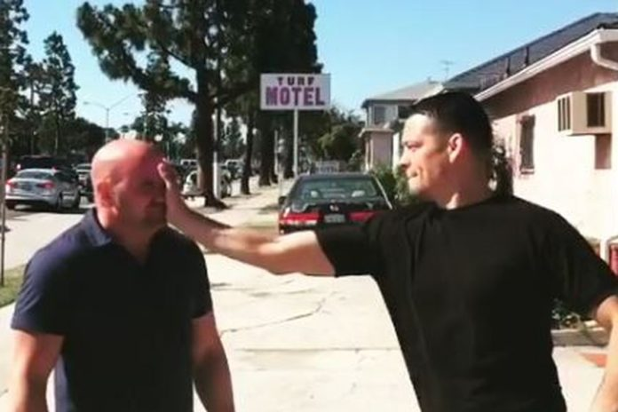 Nate Diaz slapping Dana White