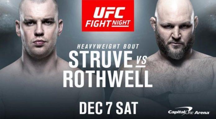 Stefan Struve Ben Rothwell na UFC on ESPN 6 w Waszyngtonie