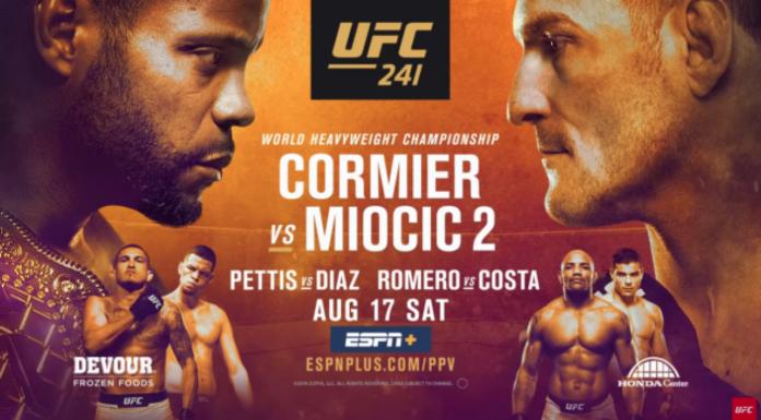 UFC 241 poster