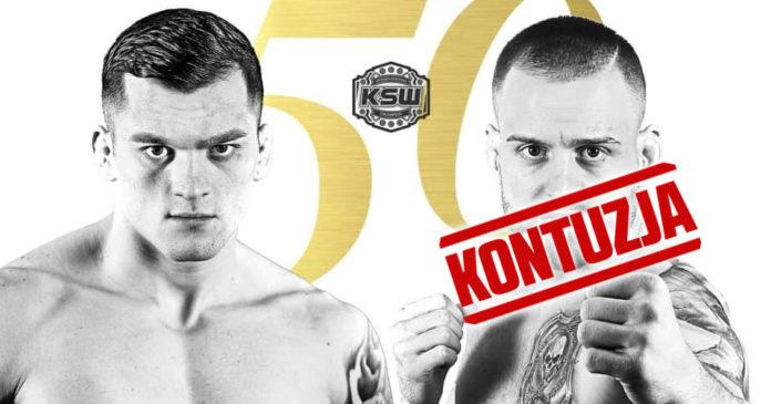 Soldic Kincl KSW 50 kontuzja