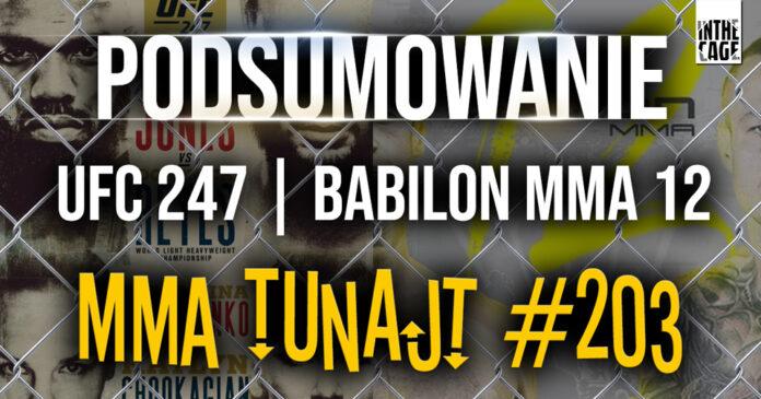 MMA TuNajt #203 Podcast InTheCage.pl